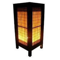 Thai Vintage Handmade ASIAN Oriental Classic BROWN BAMBOO Lighting Art Bedside Table Light or Floor Wood Paper Lamp Shades Home Decor Modern Design from Thailand