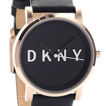DKNY Soho Black Dial Rose Gold Toned Steel Women Watch NY2633