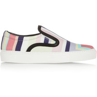 Mother of Pearl | + Jim Lambie printed canvas slip-on sneakers | NET-A-PORTER.COM