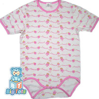 Adult Baby A Girl Baby  snap crotch Bodysuit ABDL