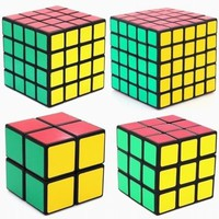 shengshou Cube 2X2 3X3 4x4 5x5 white Black cube high speed sticker toys boys puzzle Cubes twist Gift