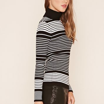 Stripe Knit Turtleneck