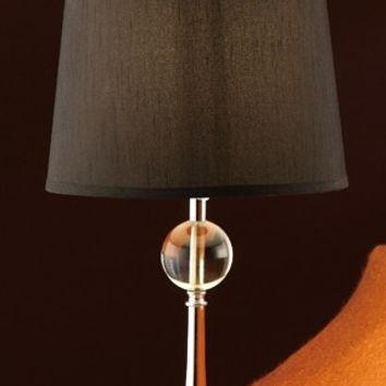 A.M.B. Furniture & Design :: Accessories :: Table Lamps :: Set of 2 table lamps with silver metal and glass base and solid color lamp shade