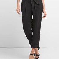 High Rise Pleated Waist Trousers|gap