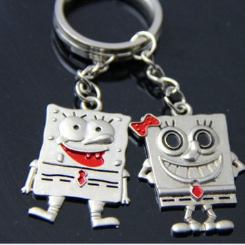 SpongeBob personalized couple   romantic pendant = 1930175876