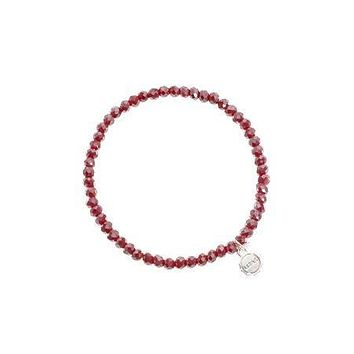 Knoxville Dark Red Metallic Bracelet
