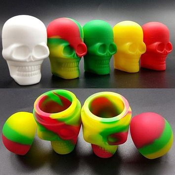 High Quality Skull Shape Wax Container Jars Box Silicone Container For Oil Crumble Honey Wax Tools Jars Dab Wax Dab Container