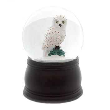 Old World Christmas GREAT WHITE OWL SNOW GLOBE Glass Snow Blower 54009