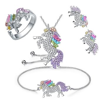 Unicorn Jewelry Cute Set