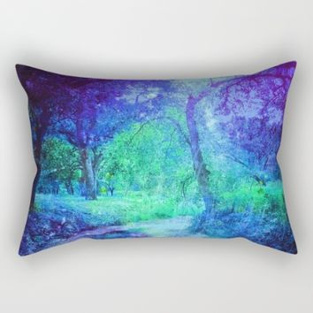 Creekbed Rectangular Pillow by Ducky B