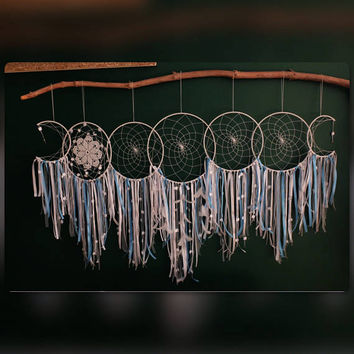 Wedding Dreamcatcher, White Dream Catcher,  Large Dreamcatcher, Bohemian Wedding, Large Dream Catcher, Nursery Decor, Boho Weddings, Giant