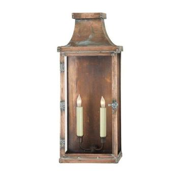 Pre-owned Visual Comfort Bedford Wide Tall Copper Lantern