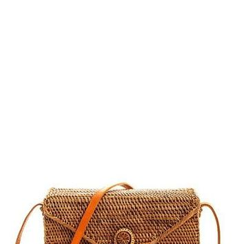 Smooth Natural Straw Woven Bag