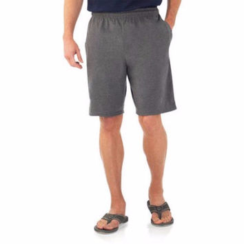 Fruit of the Loom Men's Knit Short, Charcoal Heather, Large