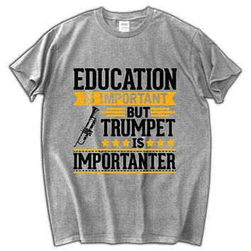 Trumpet Is Importanter Letter Print Punk Style Style Shirt