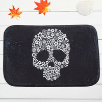 Black Skull Design Home Indoor & Outdoor Doormat Living Room Floor Mat Rugs 40*60 cm