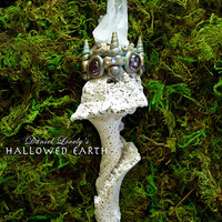 RELIC HEALER MAGIC WAND - Fossilized Seashell and Quartz Cluster - Handmade by Daniel Lovely #magic #quartz #uniquegifts #art