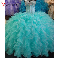 Dress, Turquoise Queen Crystal Long