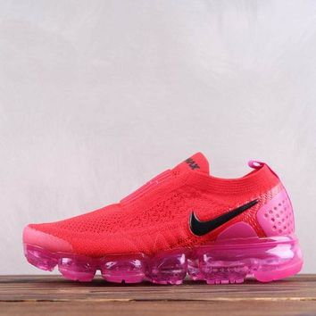 HCXX Nike Air Vapormax Moc 2.0 Bandage Knitted Running Shoes Red Pink