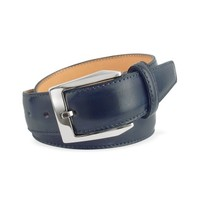 Pakerson Designer Men's Belts Men's Blue Hand Painted Italian Leather Belt