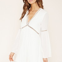 Contemporary Crochet Trim Dress