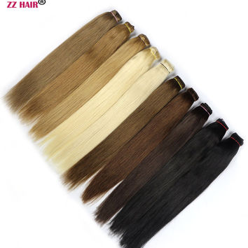 "ZZHAIR 20"" 50cm 100% Human Hair Brazilian Clip In Human Hair Extensions 1Pcs 100g One Piece Set Straight hair 13 colors Non-remy"