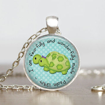 Glass Tile Pendant Noah Pendant Noah's Ark Necklace Girl's Children Christian Jewelry 1 Inch Round Noah's Ark Pendant Necklace