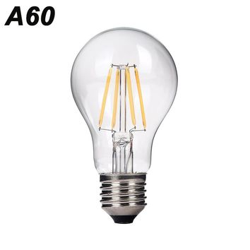 YNL Antique Retro A60 Vintage LED Filament Light E27 LED Bulb 220V Glass Bulb Lamp 2W 4W 6W Edison Bulb