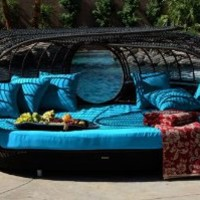 Amazon.com: Handcrafted Outdoor Wicker Daybed // Lagoon Lounge // Color: Sapphire: Patio, Lawn & Garden