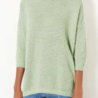 KNITTED TULIP STITCH JUMPER