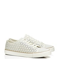 Tory Burch Floral Perforated Sneaker