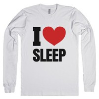 I Heart Love Sleep Long Sleeve T-shirt White