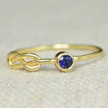 Sapphire Infinity Gold Filled Ring