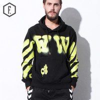 Men's Fashion Winter Stripes Alphabet Pullover Hats Hoodie [8822210499]