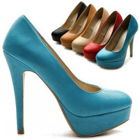 New Womens Pumps Platform Classic High Heels Stilettos Multi Colored Shoes