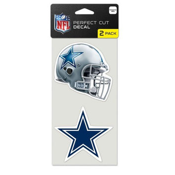 NFL Dallas Cowboys Perfect Cut Decal Set of Two