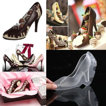 High Heel Shoes Polycarbonate PC Chocolate Candy Mould Bundle 3D Molding Instructions Fondant Cake Mold #616