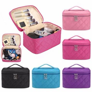 THINKTHENDO Women Cosmetic bag women's large capacity storage makeup bag handbag travel necessary organizer C6042