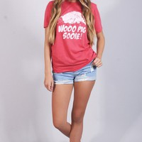 charlie southern: vintage wps t shirt - red