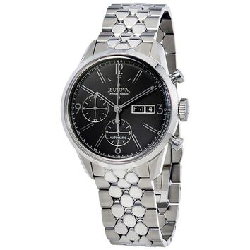 Bulova Murren Chronograph Automatic Grey Sunray Dial Mens Watch 63C119