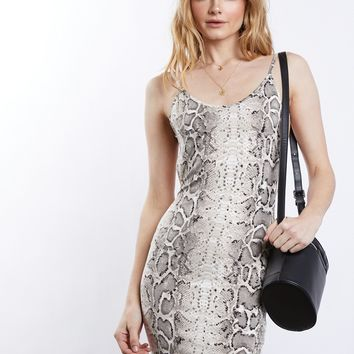 Snake Charmer Bodycon Dress