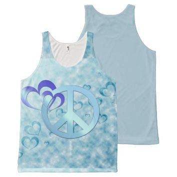 Blue Peace All-Over Print Tank Top