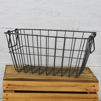 "Wire Storage Basket 9"" H x 14"" L"