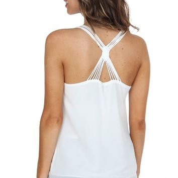 Cross Strap Tank Off White