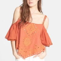 Women's Free People 'Toosaloosa' Cold Shoulder Top