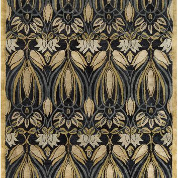 Surya Fitzgerald Arts and Crafts Black FGD-1004 Area Rug