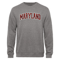 Maryland Terrapins Arch Name Sweatshirt - Gunmetal
