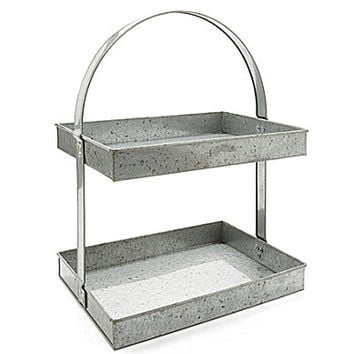 Noble Excellence Galvanized 2-Tier Stand | Dillards.com