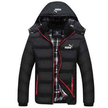 PUMA winter new trend men's thick padded down jacket Black