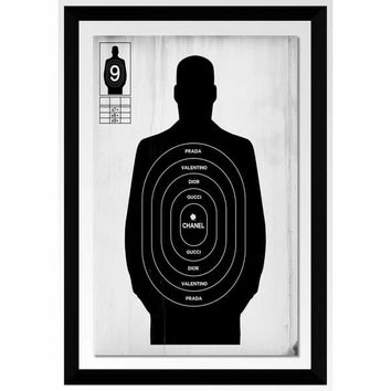 "BY Jodi ""Target Practice Ii"" Framed Acrylic Wall Art Decor 
